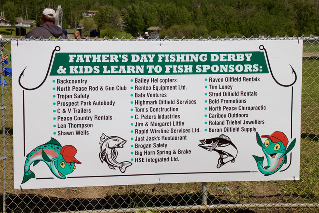 Family Fishing Sponsors 2018 Banner