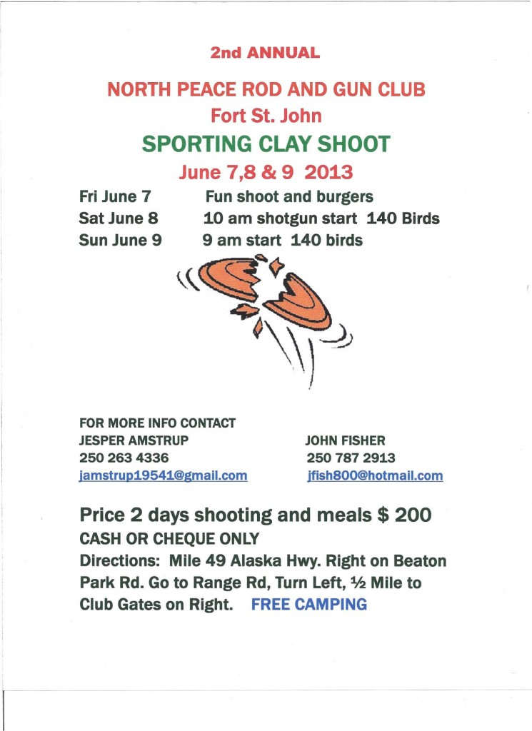 Sporting Clays June 2013 Poster