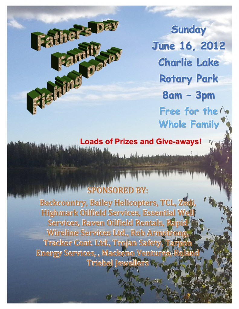 2013 Fishing Derby Poster