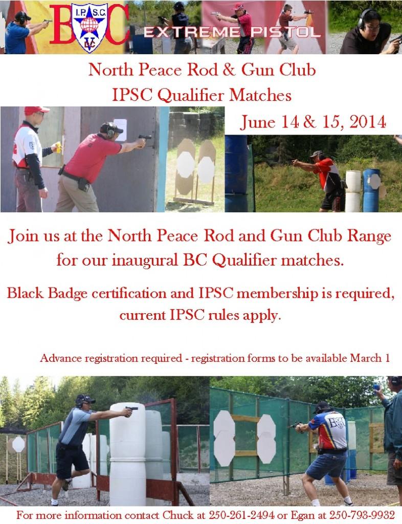 IPSC Qualifier Matchs Poster