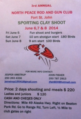 2014 Sporting Clays Shoot Poster