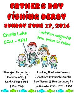 Father's Day Fishing Derby Poster 2016