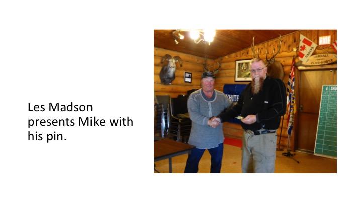 Mike Nielsen Receiving 50,000 Registered Targets Pin