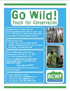 Go Wild Dawson Creek 2017 Poster