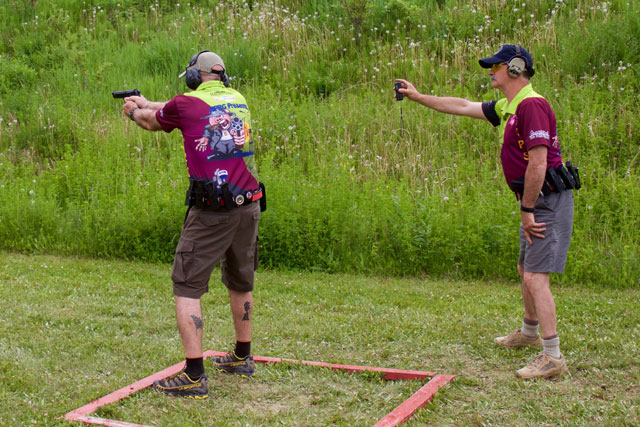 Photo of IPSC Shooter and Range Officer