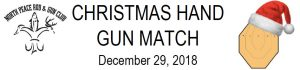 Christmas Handgun Match Header Image