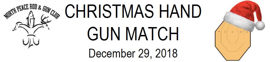 Christmas Handgun Match Header Image
