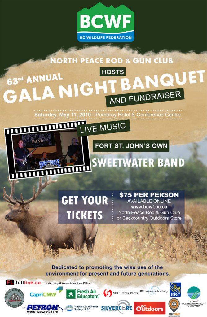 BCWF Gala Night 2019 Poster