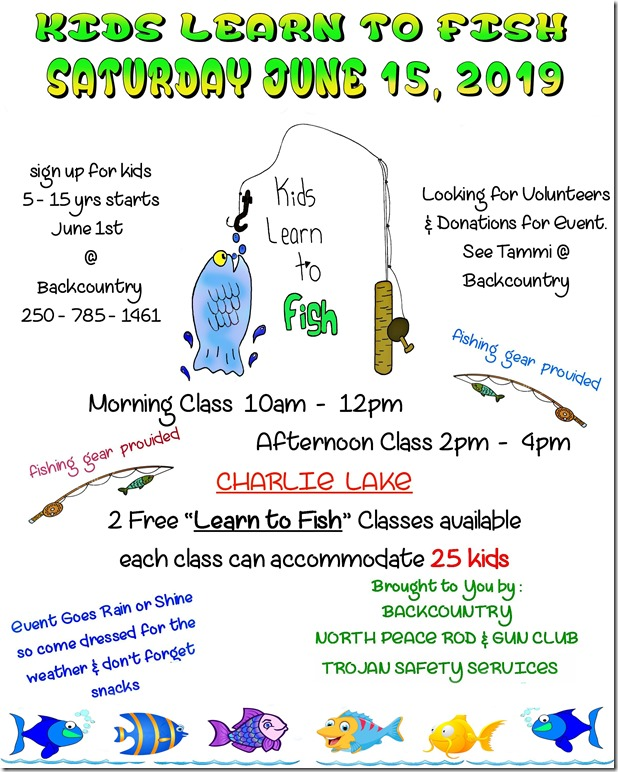 Kids learn to fish poster 2019