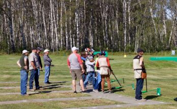 A photo of youth trap shooters.