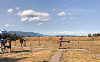Photo of people shooting trap