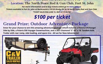 Outdoor Adventure Raffle 2021 Poster